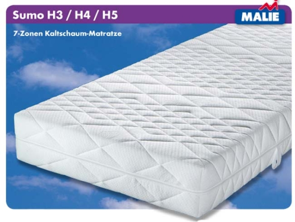 Malie Matratze Sumo XXL (Härtegrad: H4 = Hart) 9008